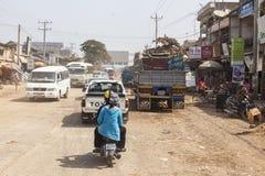 Strade della Cambogia Fotografia Stock