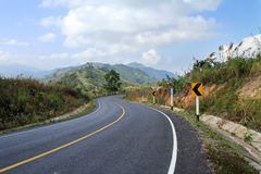 Strade della montagna Fotografie Stock