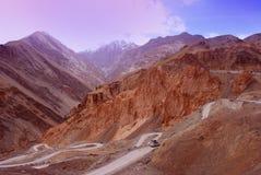 Strade della montagna di Ladakh Immagine Stock
