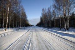 Strade della neve Fotografia Stock Libera da Diritti
