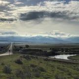 Strade della valle di Teton Fotografia Stock