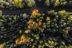 Strade di autunno - metraggio sbalorditivo fotografia stock