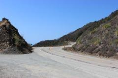 Strade di bobina lungo la strada principale della costa del Pacifico Fotografia Stock Libera da Diritti