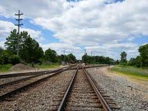 Strade di ferrovia Fotografie Stock