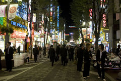 Strade di Tokyo Fotografie Stock Libere da Diritti
