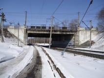 Strade e ferrovie Immagine Stock Libera da Diritti