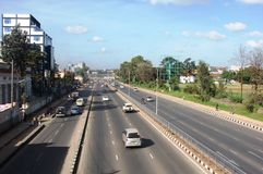 Strade e vie di Nairobi Immagine Stock