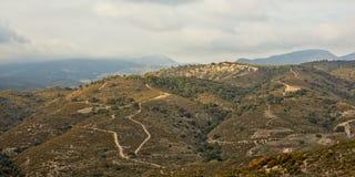 Strade non asfaltate attraverso le montagne del paesaggio di Sierra Nevada Fotografie Stock Libere da Diritti