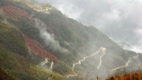Strade in nubi Fotografia Stock