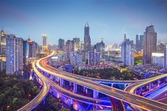 Strade principali di Shanghai fotografia stock
