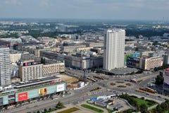 Strade principali di Varsavia Fotografia Stock