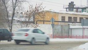 Strade trasversali alla prigione nella città della samara stock footage