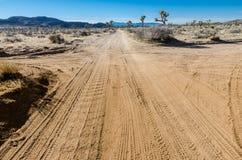 Strade trasversali del deserto Fotografie Stock Libere da Diritti