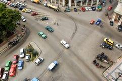 Strade trasversali di Avana da sopra Fotografie Stock