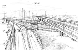 Strade urbane - disegno architettonico Immagine Stock