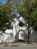 Stradina singolare a Winston-Salem del centro, Nord Carolina (NC) Fotografia Stock Libera da Diritti