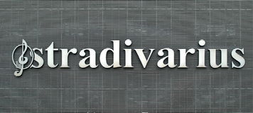 Stradivarius - the logo of fashion company Royalty Free Stock Image
