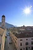 Stradun, κεντρικός δρόμος της παλαιάς πόλης, Dubrovnik Στοκ Φωτογραφίες