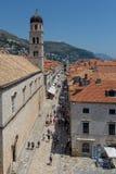 Stradun Дубровника стоковое изображение rf