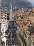 STRADUN. High street of Dubrovnik old town is called STRADUN  and a lot of things are happening in that street.and there is a lot of pubs, restaurants , shops Royalty Free Stock Photos