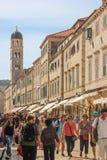 Stradun and Bell tower. Dubrovnik. Croatia Royalty Free Stock Photos