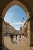 Stradun and Bell tower. Dubrovnik. Croatia Stock Photo