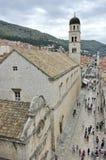 Stradun, de oude stad van Dubrovnik, Kroatië Stock Afbeeldingen