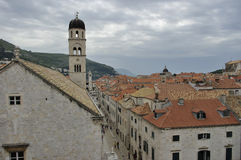 Stradun, de oude stad van Dubrovnik, Kroatië Royalty-vrije Stock Afbeelding
