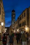 Stradun, die Hauptstraße an der alten Stadt in Dubrovnik Stockfoto