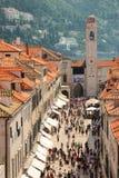 Stradun. Dubrovnik. Croatia Stock Images