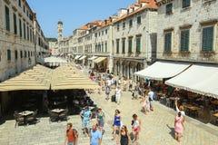 Stradun en Dubrovnik Foto de archivo libre de regalías
