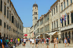 Stradun en Dubrovnik Imagen de archivo