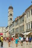 Stradun en Dubrovnik Fotografía de archivo libre de regalías