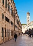 Stradun, Hauptstraße von Dubrovnik, Kroatien Stockfoto