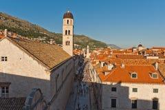 Stradun im UNESCO-Erbe Dubrovnik Stockfoto