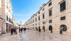 Stradun, main street of Dubrovnik, Croatia Stock Photo