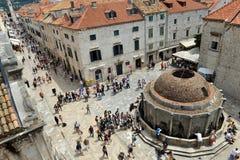 Stradun, main street of Dubrovnik, Croatia Stock Images