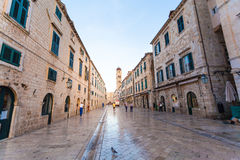 Stradun, popular pedestrian street in Dubrovnik, Croatia Royalty Free Stock Image
