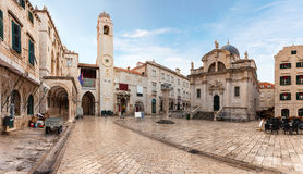 Stradun, popular pedestrian street in Dubrovnik, Croatia Royalty Free Stock Images