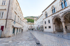 Stradun, popular pedestrian street in Dubrovnik, Croatia Royalty Free Stock Photo