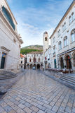Stradun, popular pedestrian street in Dubrovnik, Croatia Stock Image