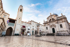 Stradun, popular pedestrian street in Dubrovnik, Croatia Royalty Free Stock Photos