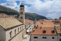 Stradun, Ragusa, Croazia Fotografie Stock
