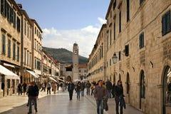 Stradun street in Dubrovnik. Croatia Stock Images
