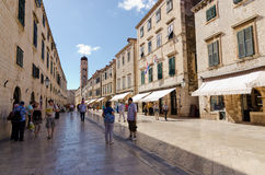 Stradun street in Dubrovnik Stock Photo