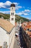 Stradun Street in Dubrovnik, Croatia Stock Photography