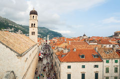 Stradun street in Dubrovnik Stock Image