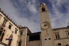 Stradun, via principale di vecchia città, Dubrovnik, Croat Immagini Stock Libere da Diritti