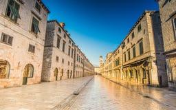 Stradun (Placa), Dubrovnik, Dalmatia, Croatia Royalty Free Stock Image