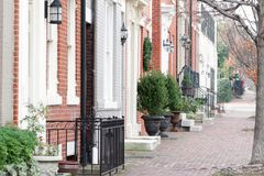 Straße in Alexandria, Virginia Lizenzfreie Stockbilder